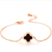 Lucky Four- Leaf Clover High- End Bracelets With 18K Rose Gold...