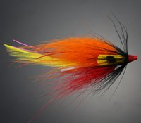 На открытом воздухе 40шт трубка Fly Flies оранжевый лосось и морская форель Fly Fishing приманки рыболовные приманки высокое качество Бесплатная доставка 2017