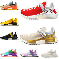 cheap for discount ef558 2517d nmd shoes La mejor calidad barata HU Human Race solar zapatillas hombres  mujeres Pharrell Williams Holi