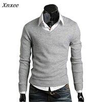 2018 Sweater Men Christmas Jumper Casual Knitted V Neck Pull...