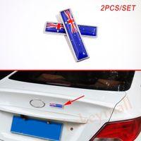 Coppia Australia AU Country Nation Flag Badge Emblem Decora l'adesivo per auto Decal Accessori esterni