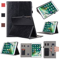 Negócios PU Leather Case Touch Slot Para Cartão Slot Para Cartão Kickstand Cover Para iPad 5 6 Air pro 9.7 10.5 11 12.9 2018 mini 1 2 3 4 Tab S4T830 Opp
