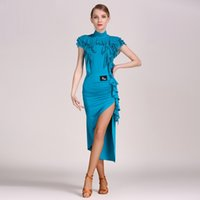 blue latin dance dresses for sale Dress for Latina costume f...