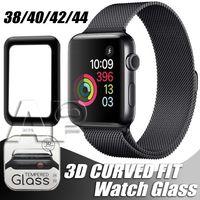 Per Apple Watch 5 3D Pellicola Protezione schermo in vetro temperato da 40mm 42mm 38mm 44mm Anti-Scratch Bubble-Free a bolle per IWATCH Series 2 3 4