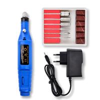 Manicure Nail Drill Machine Kit de accesorios de pluma 6 Bits Lijado Herramientas de secado de uñas Mini Pedicure Nail Art Pulido Suministros
