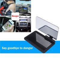 Araba Evrensel Smartphone Navagation Hud Başlı Ekran Tutucu Oto Araç Cep telefonu Cam Projektör Yansıma Montaj