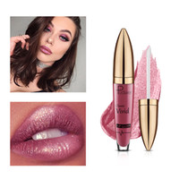 pudaier Brand Lip Liquid Women  Waterproof Long Lasting Pigment Black Red Nude Shimmer Glitter Lip Tint Cosmetic
