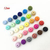Perle del silicone di 100pcs / lot 12mm per uso alimentare dentizione che cura le perle rotonde di masticazione Branelli allentati del silicone
