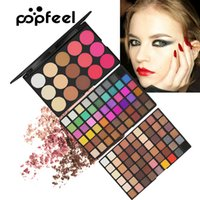 Perles de couleur de l'ombre à paupières de la mode POPFEEL 123 lumière mat ombre à paupières joue rose fond ombre à paupières maquillage