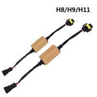 2Pcs H4 / H7 / H8 / H11 / H13 / HB3 (9005) / HB4 (9006) Canbus 배선 하네스 어댑터 LED 자동차 전조등 전구 자동 전조등 안개등 CANBUS