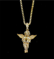 Hot sale full diamond angel Jesus hip hop alloy pendant hip ...