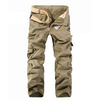 Hot New Mens Styles Multi- Pockets Cargo Trousers 109#
