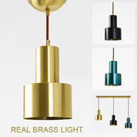 Europe Nordic small copper brass pendant light lamp LED gold...