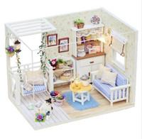Oggettistica per la casa Casa in legno fai da te Miniatura Artigianale con mobili Decorazione per la casa Accessori Figurine Miniature Mini Garden Gift H