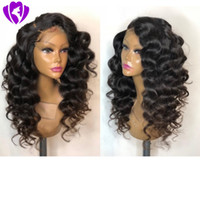 Top Quality natural Black Loose Wave short bob wig Heat Resi...
