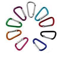 Carabiner Keychain D Ring Outdoor Sports Keyring Hiking Smal...