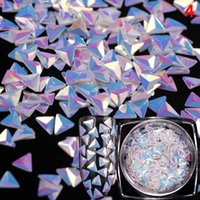 12 Style 3D Diamonds Nail Art Decorations Gradient Transpare...