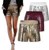 ef6b4dfce126 Wholesale shorts wholesale sparkle online - Sparkle Sequin Shorts Colors  Summer Drawstring Elastic Waist Party Girls