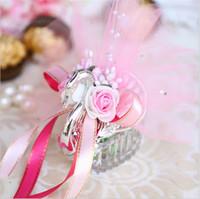 2017 Ny nyhet bröllop gynnar lådor akryl silver swan bröllop gåva godis gynnar sweetbox godispaket bröllop favoriserar innehavare hög kvalitet