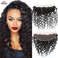Unprocessed 8A Peruvian Water Wave Frontal Closure With 4Bun...