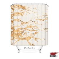 [Miaoji] Badezimmer Hohe Qualität gedruckte Goldene Exquisite Duschvorhang Multi Größen Badvorhang Dekor geben Verschiffen frei