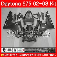 Kit para triunfo Daytona 675 2002 2003 2004 2005 2007 2007 2007 2008 Cuerpo 04HM.91 Daytona675 Daytona 675 02 03 04 05 06 07 08 Carenado Gris plata