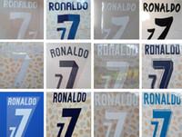 Реал Мадрд топтает футболисты дома и на выезде № 7 RONALDO 11 12 12 13, 13 14, 14 15, 15 16, 16 17, 17 18 печать надписей шрифтов наклеек