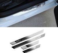 폭스 바겐 폭스 바겐 골프 7 MK7 2012-2017 자동차 스타일링 스테인레스 스틸 도어 창문 문턱 보호판 자동차 액세서리 스티커를위한 자동차