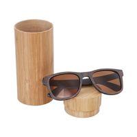 287d10dd7 2018 homens da moda óculos de sol de madeira de bambu feitos sob encomenda  óculos quadrados