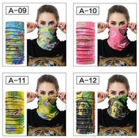 Магия шарфы шарф открытый маска многофункциональный Велоспорт бандана женщины мужчины группа волос шарф магия головные уборы Спорт шейный платок 40 стилей