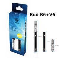 100% Original Bud-B6 + V6 Starter Kits 350mAh Bateria E-Cigarro Vape Vape Kit 0.5ml Elemento de Aquecimento Navio Livre