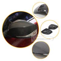 Q50 TOP PU Schützen Carbon Mirror Caps OEM Einbau Seitenspiegelabdeckung für Infiniti Q50 Q50L Q60 Q70 QX30 2017 1: 1 Ersatz