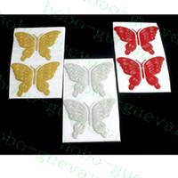 100pcs / lot voiture Décoration véhicule papillon 3D PVC Autocollants Stero personnalité Extérieur Accessoires CARROSSERIE DECAL Bricolage