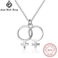 fff3c0c1d2fc Diseño de símbolo femenino 925 colgantes de plata de ley S925 accesorios de  joyería de plata de moda para mujeres (NE102631)