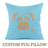Pug Pillow Case Old Face Dog Footprint Pillowcase Cushion Ha...
