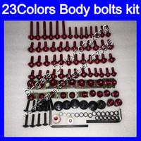 boulons Carénage kit de vis complet pour KAWASAKI ZX10R ZX 10R 04 05 ZX 10 R 04-05 ZX10R 2004 2005 05 Kit boulon écrou écrous Les vis du corps 25Colors