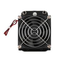 Freeshipping más nuevo aluminio 80 mm enfriado por agua enfriado fila intercambiador de calor radiador + ventilador para CPU PC Eletronic caliente