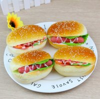 11cm Hamburger Squishy Toys Simulation Bread Soft Jumbo Slow...