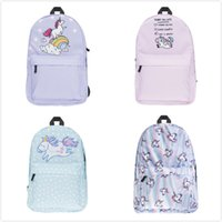 Fashion Style Unicorn Pattern Cartoon Printed Kids Backpacks...