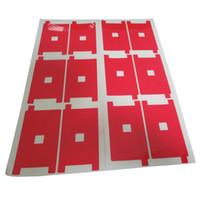 Kırmızı LCD iPhone 5G 5S 5C için Arka Işık Çıkartma Geri Sticker Yapışkan Filmi 100 Adet Onarım / lot