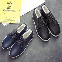 Marque italienne en cuir mens bottes casual designer hiver chaussures hommes court en bois peluche terre chaussures zapatos de hombre botas hombre erkek bot