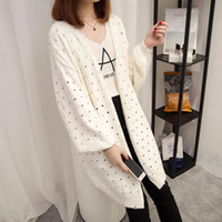 2017 Spring Autumn Women Sweater Long Cardigan Coat Fashion ...