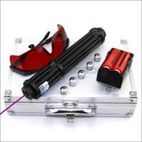 Laser Pointer Shadowlasers Preto VX3-II High Power 450 nm Azul roxo Laser Tocha Lazer Lanterna Caça Com 2 * 18650 Li Baterias