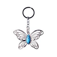 Moda nuova pietra naturale in acciaio inox farfalla cartoon pantaloni da donna ciondolo portachiavi auto da uomo che dà regalo donne Lol