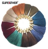 GUFEATHER L95 / 5CM / Schmuck Zubehör / Seide Quaste mit Kappe / DIY Schmuck / Ohrringe machen / Quaste Halskette / Verzierungen / 4pcs