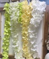 زهور اصطناعية طولها حوالي 34 سم ، زهور اصطناعية ، كرمة ، زهور ، كرمة ، زينة الزفاف ، الوستارية ، يمكن تجميعها بحرية HW012