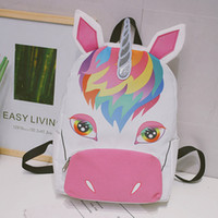 Unicorn Backpack Women Canvas Pouch Gift Bags Children Schoo...
