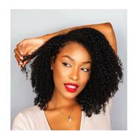 Yeni moda kadınlar kısa bob sapıkça kıvırcık peruk brezilyalı Saç Afrika Ameri Simülasyon insan saç için kinky kıvırcık peruk stokta lady