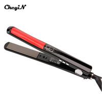 LED-Display Turmalin-keramisches Haarglätter Kamm Schnellheizung Flaches Eisen Denning Richteisen Gerade Haarbürste
