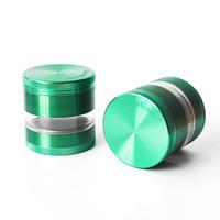 Smerigliatrice di erbe di plastica acrilica 2.5inches una smerigliatrice del metallo della smerigliatrice del tabacco di 4 strati per il tubo di fumo che spedice liberamente